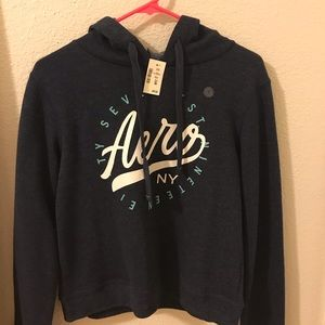 Cropped Aéro Postale hoodie. NEW WITH TAGS!